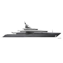 Cruising mega-yacht / raised pilothouse / steel / with helideck