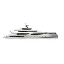 Cruising mega-yacht / raised pilothouse / aluminum / semi-displacement hull