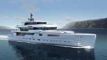 Cruising mega-yacht / raised pilothouse / steel