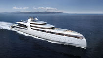 Cruising mega-yacht / raised pilothouse / steel / with swimming pool