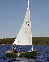 Classic open sailing/rowing boat / open transom