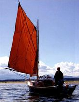 Open transom sailboat / 1-cabin