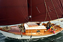 Classic sailboat / open transom / with cabin