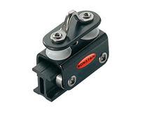 Mainsail sheet car / fixed sheaves / ball bearing / with hasp