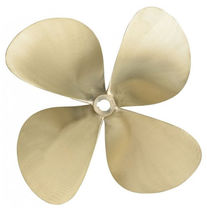 Boat propeller / fixed-pitch / shaft-drive / 4-blade