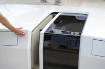 Boat door / sliding / with glass panel / companionway