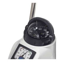 Boat steering compass / magnetic / horizontal / binnacle-mounted