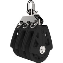 Plain bearing block / triple / with swivel / with shackle