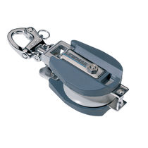 Snatch block / single / with swivel snap shackle / max. rope ø 14 mm
