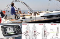 Boat monitoring and control system / sail-trimming