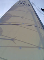 Mainsail / for cruising sailboats / Dacron® / cross-cut