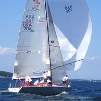 Asymmetric spinnaker / for one-design sailboats / Farr 30