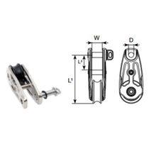 Plain bearing block / single / for sailboats / halyard