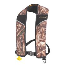 Inflatable life jacket / for fishing