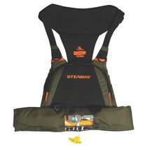 Inflatable life jacket / for fishing / with safety harness