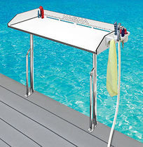 Boat fish cleaning table / fixed / polyethylene