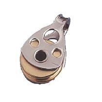 Plain bearing block / single / with fixed head / max. rope ø 4 mm