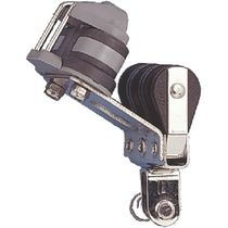 Cam cleat block / triple / with swivel / with cleat