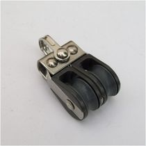 Plain bearing block / double / with fixed head / max. rope ø 6 mm