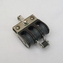 Plain bearing block / triple / with fixed head / with becket