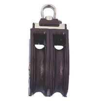 Ball bearing block / double / with fixed head / for sailboats