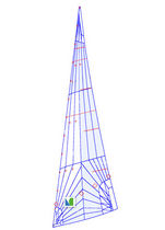Jib / for cruiser-racer sailboats / tri-radial cut / laminated