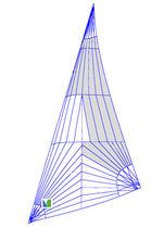 Jib / for racing sailboats / tri-radial cut