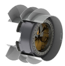 Ship thruster / azimuth / electric / RIM-drive