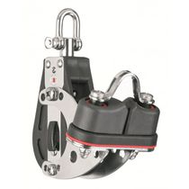 Cam cleat block / ratchet / single / with swivel