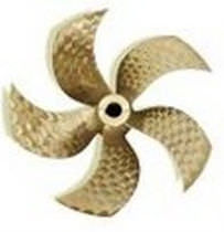 Boat propeller / fixed-pitch / shaft-drive / 5-blade