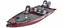 Outboard bass boat / side console / sport-fishing / 4-person max.