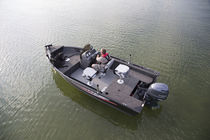 Outboard bay boat / side console / sport-fishing / 5-person max.