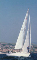 Mainsail / for cruising sailboats / cross-cut / Dacron®