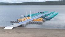 Floating dock / mooring / for leisure centers / plastic