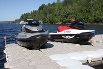 Modular dock / floating / jet-ski drive-on / for marinas