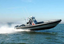 Outboard work boat / rigid hull inflatable boat / aluminum