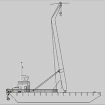 Crane barge special vessel