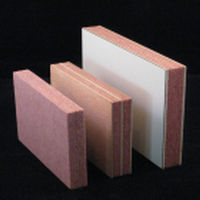 Fire protection sandwich panel / wood / wood / refractory