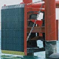Harbor fender / for shear loads / pier / rubber