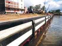 Harbor fender / sliding / pier