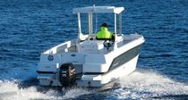 Outboard center console boat / wheelhouse
