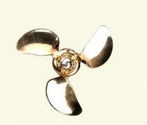 Boat propeller / folding / shaft-drive / 3-blade