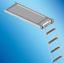Boat ladder / for yachts / retractable / swim