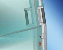 Boat door / for yachts / sliding / stainless steel