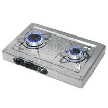 Gas cooktop / for boats / two-burner