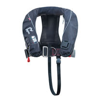 Inflatable life jacket / with safety harness