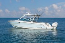 Outboard runabout / twin-engine / dual-console / sport-fishing