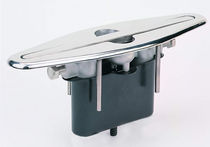 Boat deck cleat / built-in / stainless steel
