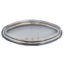 Oval portlight / for boats / opening / with rounded corners