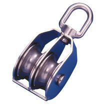 Plain bearing block / double / with swivel / max. rope ø 12 mm